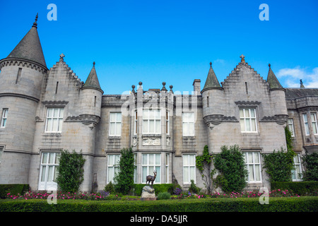 Europe Great Britain, Scotland, Aberdeenshire, the Balmoral castle, summer residence of the British Royal Family. - Stock Photo