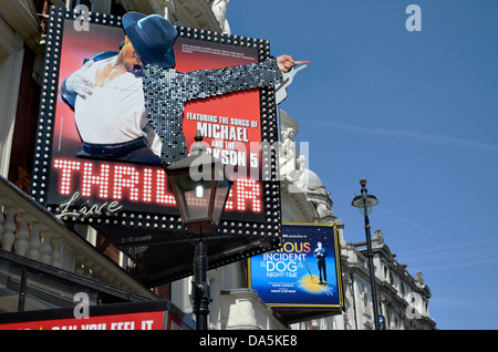 London, England, UK. Theatres in the West End. Lyric Theatre / Apollo Theatre in Shaftesbury Avenue - Stock Photo