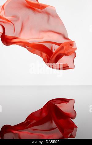 chiffon fabric refection wisp wispy - Stock Photo