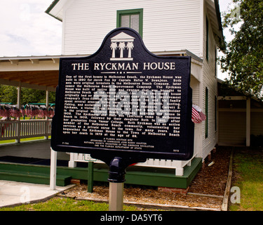Ryckman House in Melbourne Beach Florida - Stock Photo