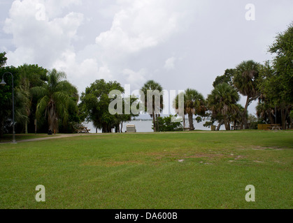 Ryckman Park in Melbourne Beach Florida - Stock Photo