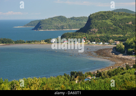 Canada, Parc Nacional du Bic, Quebec, St. Fabien sur mer, forest, horizontal, National Park, panorama, shore, shoreline, - Stock Photo
