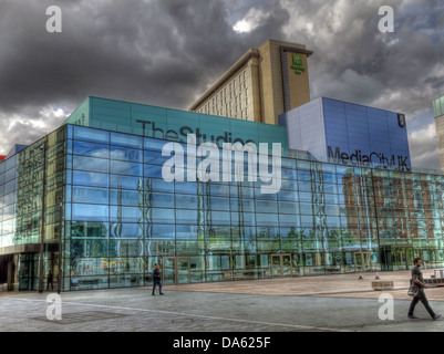 BBC Media City UK Salford Quays Manchester Lancs England - Stock Photo