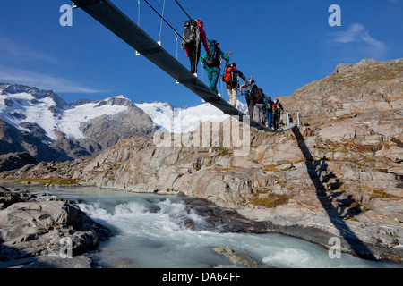 Traveller, Gauligletschersee, Urbachtal, mountain, mountains, canton, Bern, Gauli, Gauligebiet, Gauligletscher, - Stock Photo