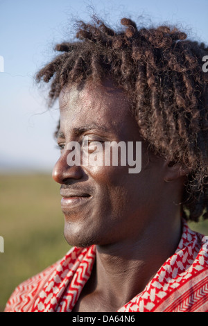 Afar, man, Africa, agriculture, man, portrait, Ethiopia, - Stock Photo
