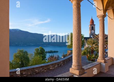Brissago, islands, isles, canton, TI, Ticino, South Switzerland, lake, lakes, island, isle, Switzerland, Europe, - Stock Photo