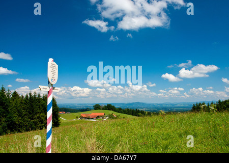 Germany, Germany, Germany, Europe, Bavaria, Upper Bavaria, Chiemgau, Rupertiwinkel, Teisendorf, Siegsdorf, Schwarzenberg, - Stock Photo