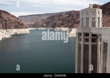 Lake Mead from the Hoover Dam - Stock Photo