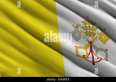 Flag of the Vatican City State - Stock Photo