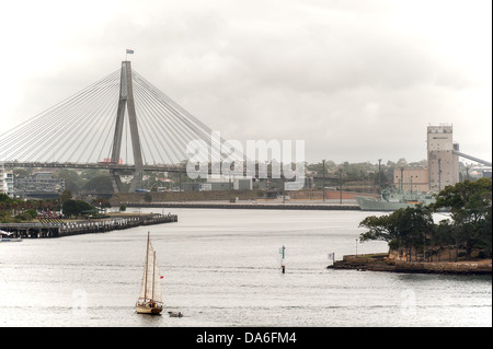 Sydney's Anzac Bridge. - Stock Photo