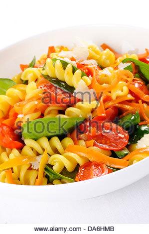 vegetable pasta salad - Stock Photo