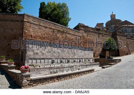 butinale,fontana delle sette cannelle,tuscania,lazio,italy - Stock Photo