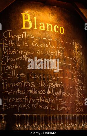 Bodegas Mazon tapas bar Santander Cantabria Spain - Stock Photo