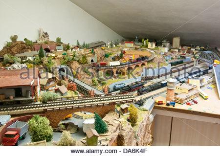 railway modelling - Stock Photo
