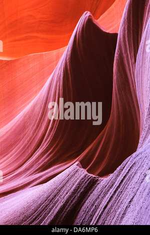 Lines and structures at Lower Antelope Canyon, Page, Arizona - Stock Photo