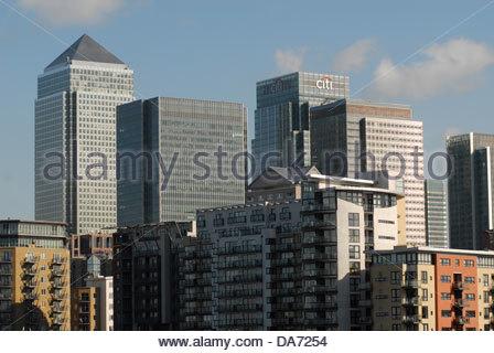 canary wharf,tower hamlets,east end,london,uk - Stock Photo