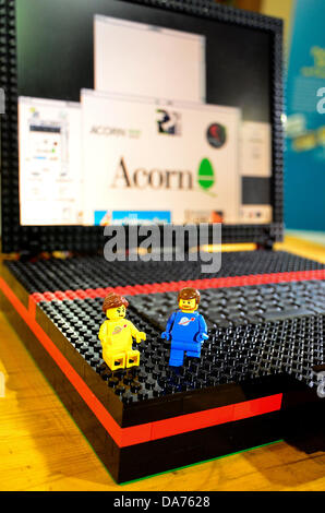 Coalville, UK. 5th July, 2013. A working lego laptop made by London software engineer Peter Howkins, at the first - Stock Photo