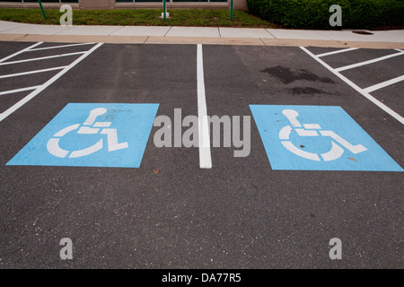 Disabled parking spaces - Stock Photo