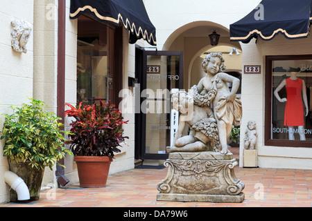 Store on Worth Avenue,Palm Beach,Florida,USA,North America - Stock Photo