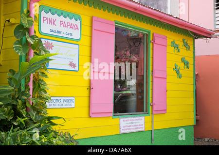 Store in Cruz Bay,St. John,United States Virgin Islands,Caribbean - Stock Photo