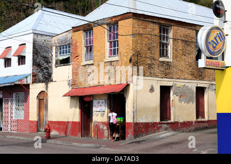 Melville Street,St. Georges,Grenada,Caribbean - Stock Photo