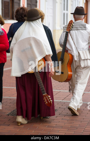 Folk Musicians on Canary Day - Stock Photo