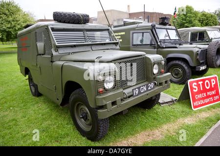 vintage british army military vehicles on display county down northern ireland uk - Stock Photo