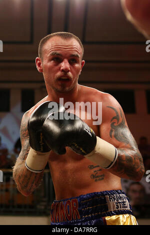 London, UK. 06th July, 2013. Kevin Mitchell vs Sebastien Bentino at the Betfair Prize Fighter event at York Hall, - Stock Photo