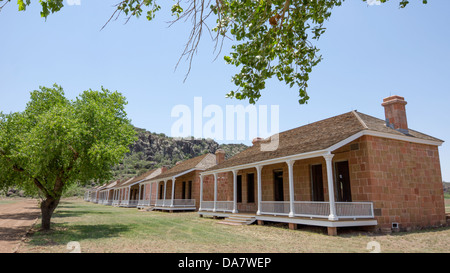 Fort Davis National Historic Site Texas is one of the best surviving examples of an Indian Wars frontier military - Stock Photo