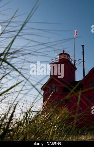 The Big Red lighthouse in Holland, Michigan, United States of America Stock Photo
