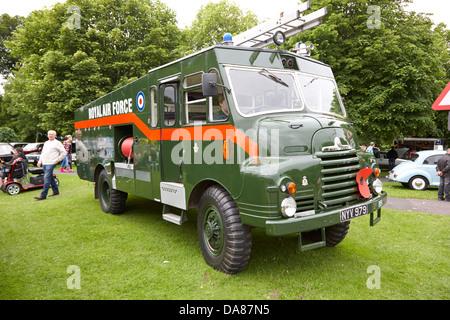 raf green goddess vintage british army military vehicles on display county down northern ireland uk - Stock Photo