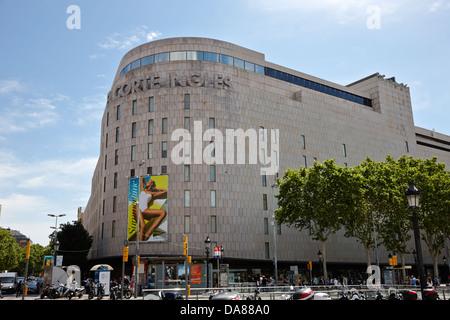 El corte ingles department store in madrid spain stock - El corte ingles plaza cataluna barcelona ...