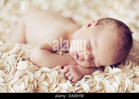 Newborn Baby Sleeping Dark Room
