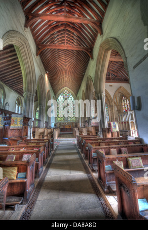 Wide angle shot of main Altar from chapel of St Peter & St Paul, parish church, Dorchester on Thames, England, UK - Stock Photo