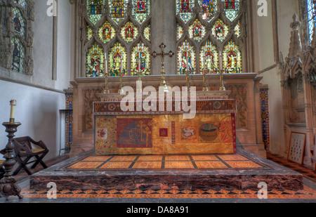 Main Altar art from chapel of St Peter & St Paul, parish church, Dorchester on Thames, England, UK - Stock Photo