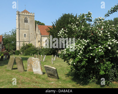 Beautiful Dorchester On Thames Abbey Church of St Peter & St Paul - Stock Photo