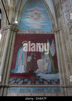 Beautiful Dorchester On Thames Abbey Church of St Peter & St Paul Wall painting - Stock Photo