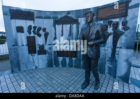 A statue of John F Kennedy In New Ross, Co Wexford celebrates the American presidents Irish Roots and heritage - Stock Photo