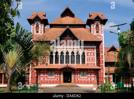 Napier Museum Palace Building Trivandrum Thiruvananthapuram Architecture View - Stock Photo