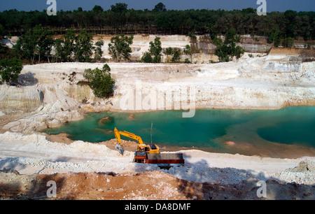 Clay Mining and Environmental Issues Kerala India - Stock Photo