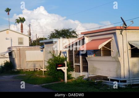St. Saint Petersburg Florida Largo Belleair Village Motel mobile trailer home park - Stock Photo