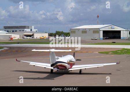 St. Saint Petersburg Florida Albert Whitted Airport SPG tarmac runway airplane - Stock Photo