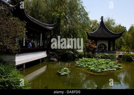 Chinese Garden, The Huntington Library, Art Collection, and Botanical Gardens San Marino, California, United States - Stock Photo