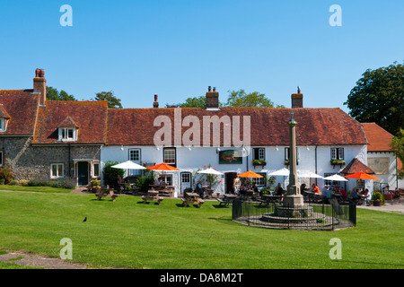 Tiger Inn East Dean near Eastbourne, East Sussex, UK, a popular stop with hikers on the South Downs - Stock Photo