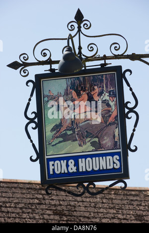 English Pub Sign - Stock Photo