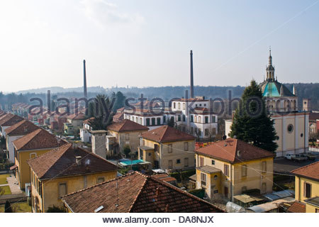 Crespi d'Adda,UNESCO,Lombardy,Italy - Stock Photo