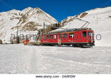 Alp Grum,Bernina express,Switzerland - Stock Photo