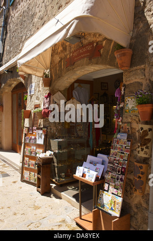 Balearic Islands, Majorca, Mallorca, Spain, Europe, outside, Valldemossa, Valdemossa, souvenir, souvenirs, store, - Stock Photo