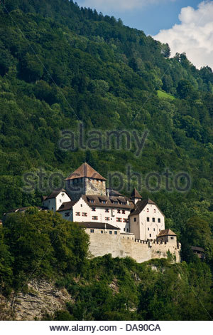 Liechtenstein,Vaduz,castle - Stock Photo