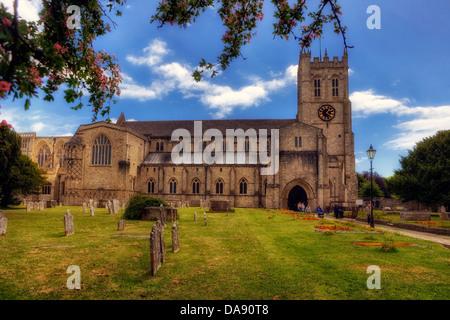 Christchurch Priory, Dorset, United Kingdom - Stock Photo